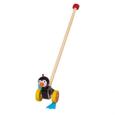 Fajáték - Tologatós, totyogó pingvin
