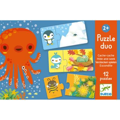 Djeco - Bújócska párosító puzzle