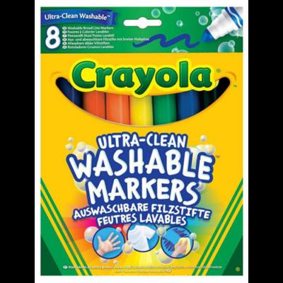 Crayola - Lemosható vastag Filctoll - 8 db-os