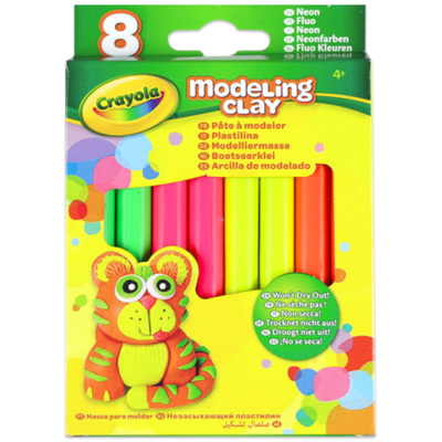 Crayola - Gyurma - 8 db - neon színek