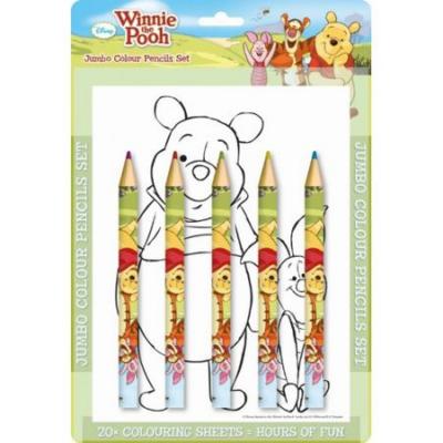Micimackó színező 5 db színes ceruzával