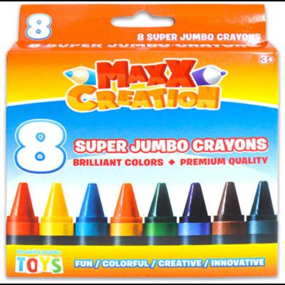 MaxxCreation - Szuper tömzsi zsírkréta - 8 db-os