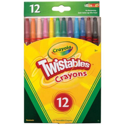 Crayola - Csavarozható zsírkréta - 12 db-os