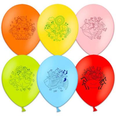 Bogyó és Babóca - színes mintás lufik - 6 db