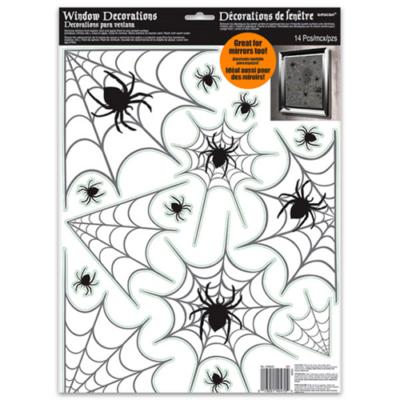 Halloween - Pókhálós ablakdekoráció
