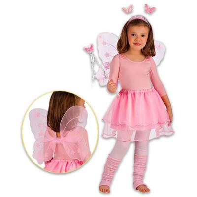 Pillangó jelmez szett - rózsaszín