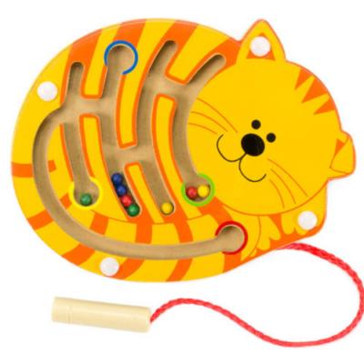 Fajáték - Mágneses golyóvezető - kicsi cica