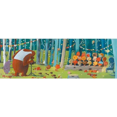 Djeco - Művész puzzle - Erdei barátok, 100 db-os