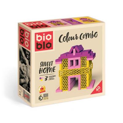 """Bioblo Colour Combo """"Sweet Home"""" 40 db-os építőjáték"""