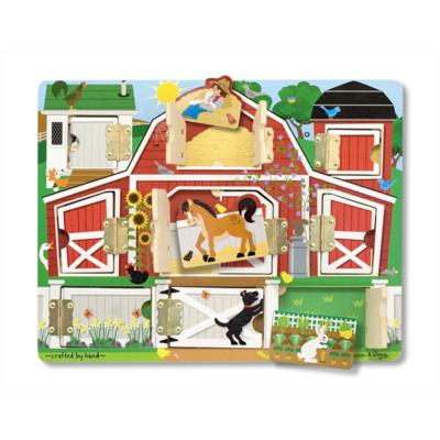 Melissa & Doug - Fa készségfejlesztő játék - Mágneses bújócska ház
