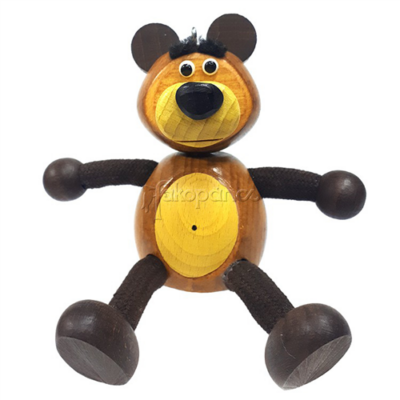 Fajáték - Rugós figura - maci