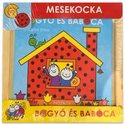 Bogyó és Babóca - fa mesekocka - 9 db-os - Házikók
