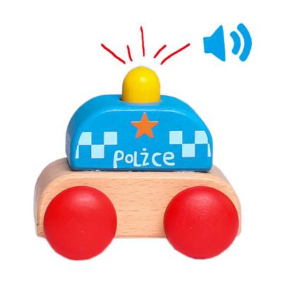 Fajáték - Hangot adó mini rendőrautó