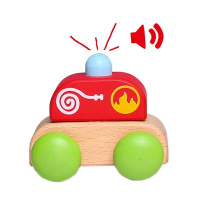 Fajáték - Hangot adó mini tűzoltóautó