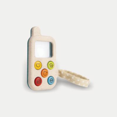 PlanToys - Az első telefonom – öko fa játéktelefon