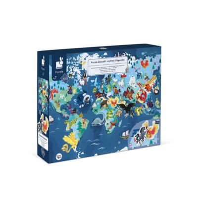 Janod - Misztikus élőlények oktató puzzle és 3D figurák - 350 db