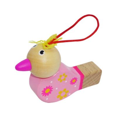 Fajáték - Síp - madárkás, rózsaszín