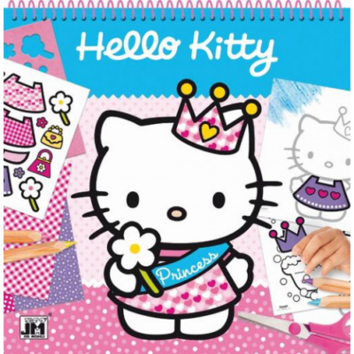 Hello Kitty - Rajzsablon matricákkal
