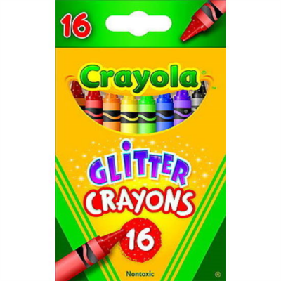 Crayola - Csillámló zsírkréta - 16 db-os