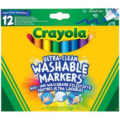 Crayola - Vastag Extra - Kimosható filctoll - 12 db-os