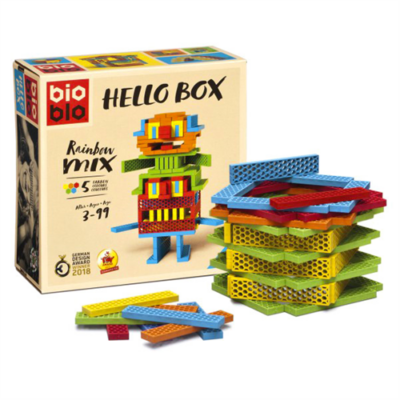 "Bioblo Hello Box ""Rainbow Mix"" 100 db-os építőjáték"