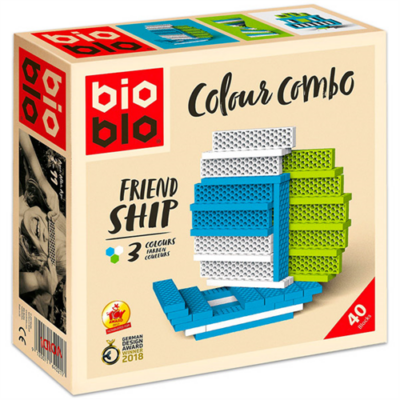 "Bioblo Colour Combo ""Friend Ship"" 40 db-os építőjáték"