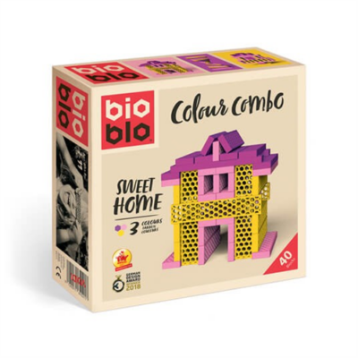 "Bioblo Colour Combo ""Sweet Home"" 40 db-os építőjáték"