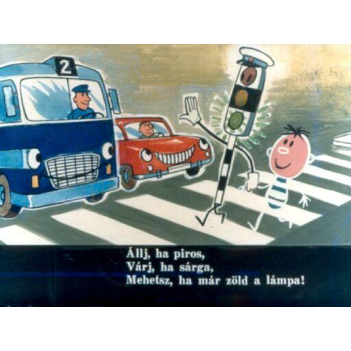 Diafilm - Zebra Zoli kalandjai közlekedési ismeretek