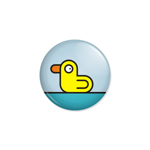 Kedd kitűző - Duck - Minta 5