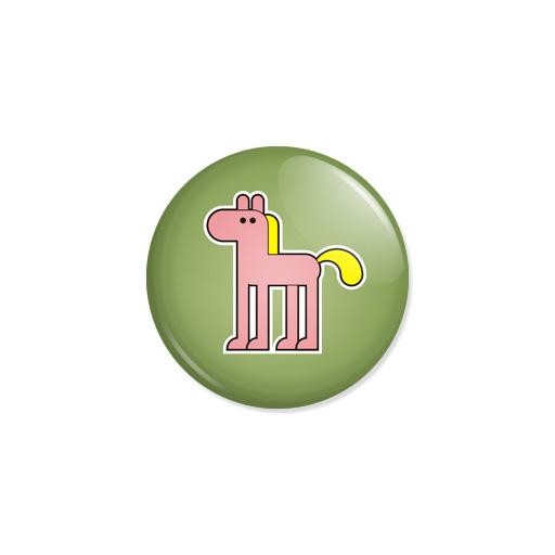Kedd kitűző - Ló - Minta 1