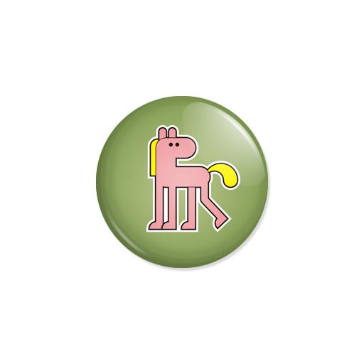 Kedd kitűző - Ló - Minta 3
