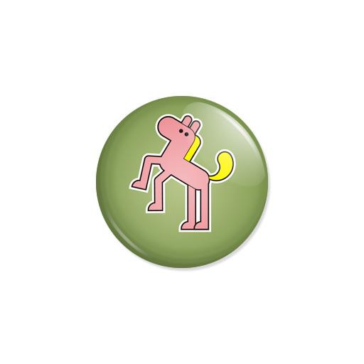 Kedd kitűző - Ló - Minta 4