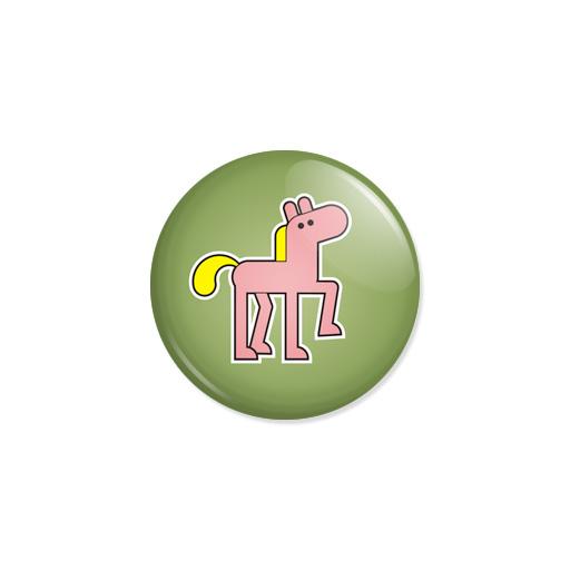 Kedd kitűző - Ló - Minta 5