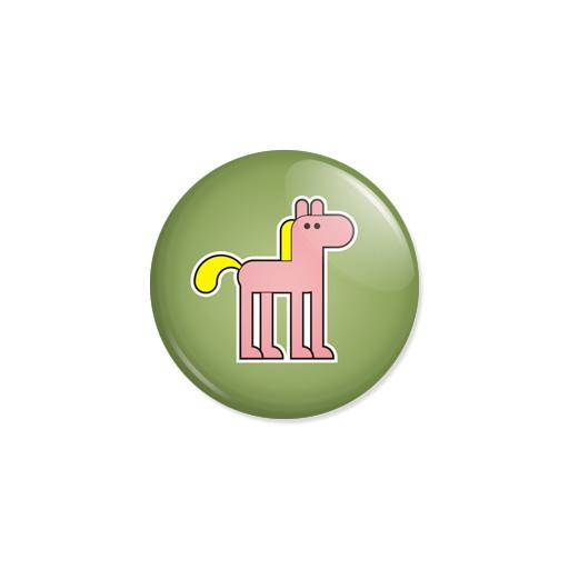 Kedd kitűző - Ló - Minta 7