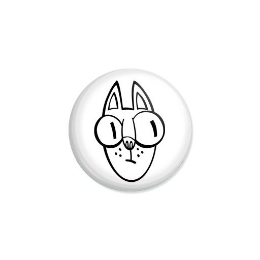 Kedd kitűző - Macska - Minta 1
