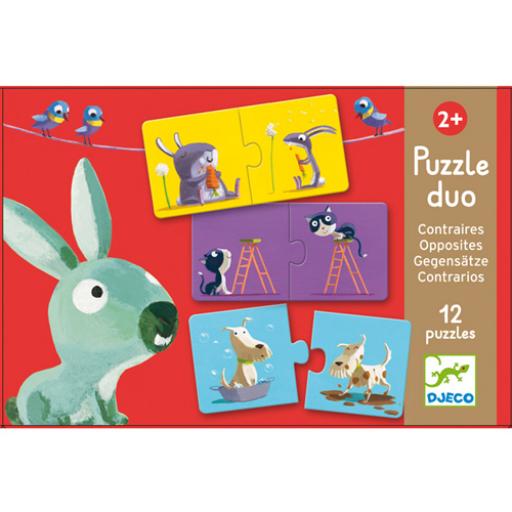 Djeco - Párosító puzzle - Ellentétek