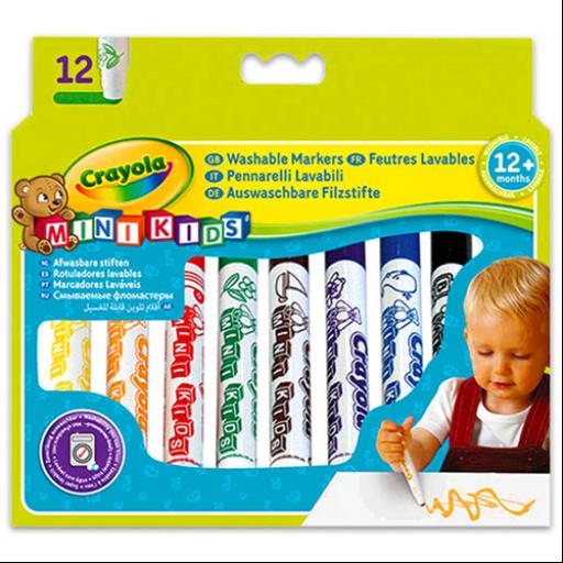 Crayola - Tompahegyű, vastag filctoll 12 db-os