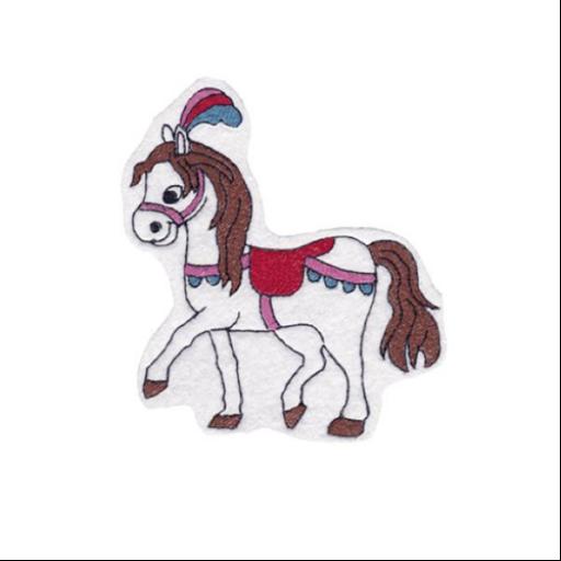 Hűtőmágnes - Cirkuszi ló (fehér)