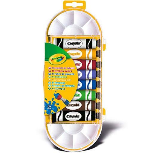 Crayola - Temperakészlet - 8 db-os