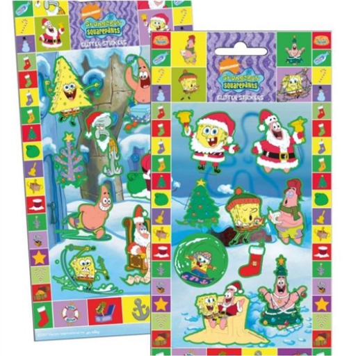 SpongyaBob - Karácsonyi matrica - 10x20 cm