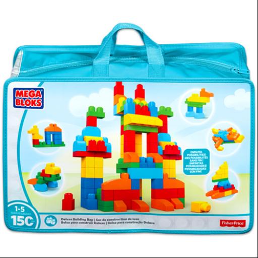 Mega Bloks - 150 darabos építőkocka zsákban