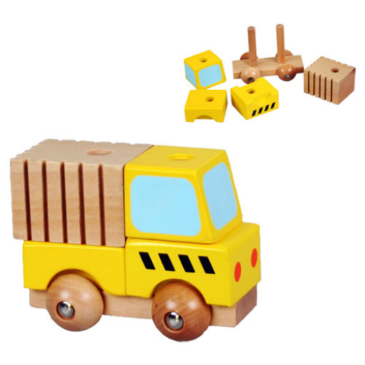 Fajáték - Szétszedhető teherautó, kicsi