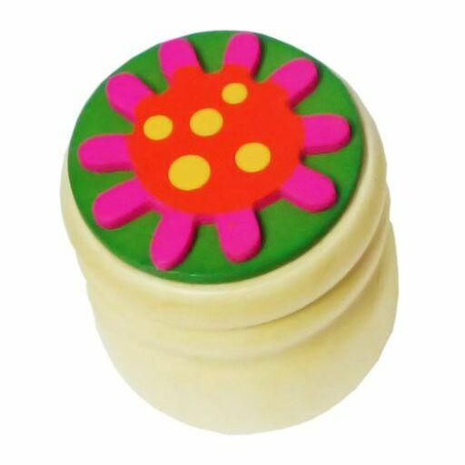 Fajáték-Tejfogtartó virágos
