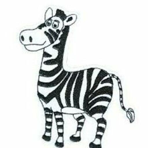 Hűtőmágnes Zebra