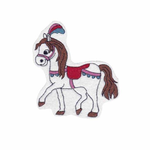 Hűtőmágnes-Cirkusz ló fehér
