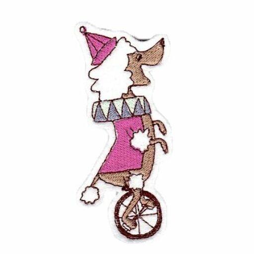Hűtőmágnes-Kutya biciklivel