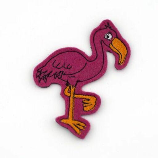 Hűtőmágnes-Flamingó