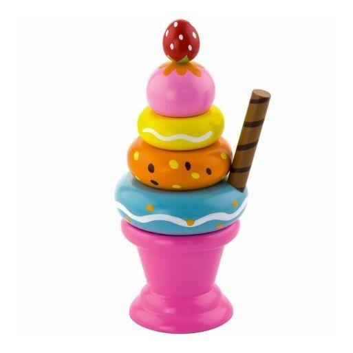 Fajáték-Fagyi rózsaszín pohárban montesszori játék