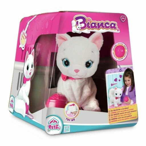 Bianca cicus funkciós plüss cica