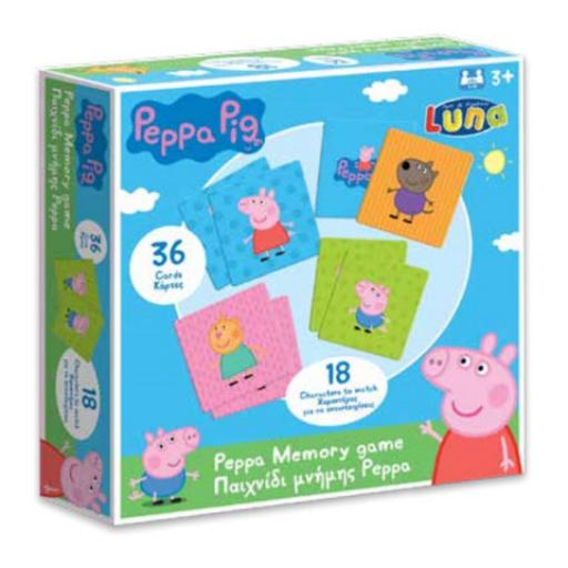 Peppa malac memóriajáték - 36 db kártyával